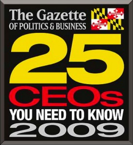 Jonathan Wilber named one of the top executives in Montgomery County, Maryland